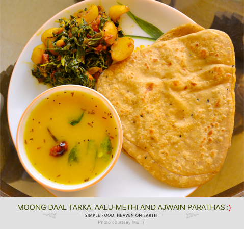 Simple Food, Lunch Ideas, Jharkhand Food, Jharkhand ka Khana, Paratha, Aalu-methi, Sabzi, Sabji, Moong Daal, Moong ki Daal, Rustic Food, Everyday Food, Village Food, Morning Rituals, Love for Food, Recipe, Life, Happiness, Art, Thoughts, Doodles, Love, Inspiration, Quotes, Happiness, Recipes, Sowing Happiness, Spreading Love, Positive Thoughts, Gulmohar Doodles, Puneeta Prakash Blog, Puneeta Prakash, Personal Blog, Blogger