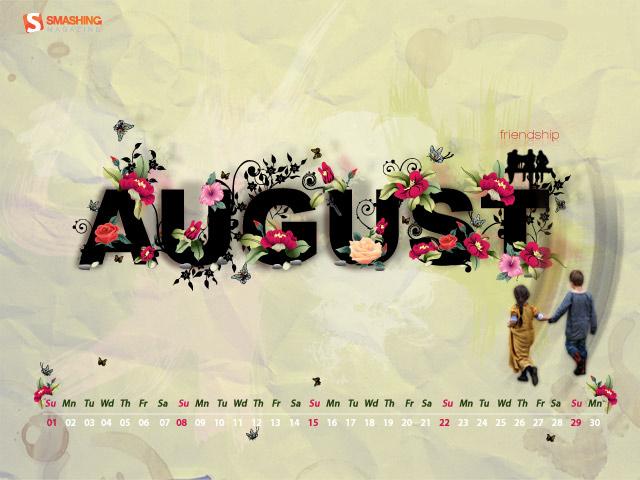 August-Happy friendship Month Wallpaper