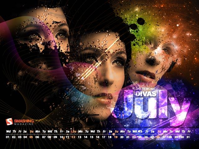 July 2009 - The Demonic Divas Calendar
