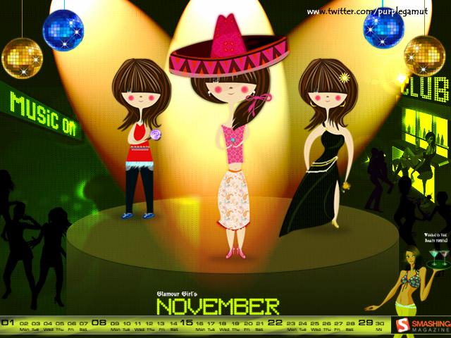 November 2009 - Glamour Girls Calendar