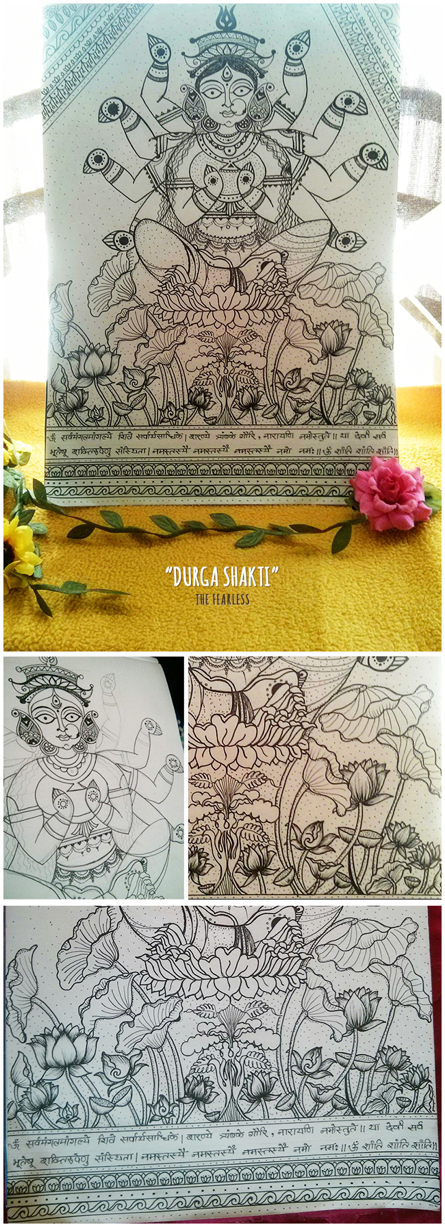 Weaving Memories, Durga, Durga Shakti, Shakti, Parvati Forms, Goddesses, Indian Mythology, Mythology, Madhubani, Madhubani Artwork, Artwork, Penwork, Artline, Me Without You is Incomplete, Indian Artwork, Madhubani Form, Artform, Artist, Giving Form to my Imaginations, Art, Thoughts, Doodles, Love, Inspiration, Quotes, Happiness, Recipes, Sowing Happiness, Spreading Love, Positive Thoughts, Gulmohar Doodles, Puneeta Prakash Blog, Puneeta Prakash, Personal Blog, Blogger