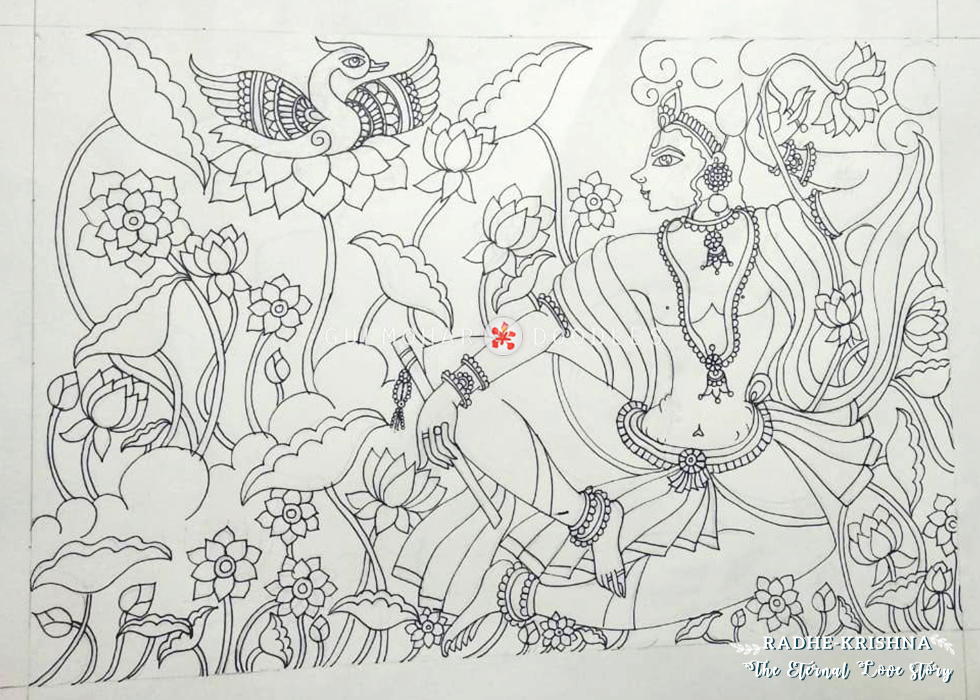 The eternal love, love, what is love, love and meaning, meaning of love, love, mythology, Radha, Krishna, Radha and Krishna, Radhe-Krishna, Krishna-Radha, The Eternal Love of Radha and Krishna, Stories form Mythology, Love for Mythology, Indian Mythology, Mythology, Madhubani, Madhubani Artwork, Artwork, Penwork, Artline, Paintings, Drawing, Doodles, Me Without You is Incomplete, Indian Artwork, Madhubani Form, Artform, Artist, Giving Form to my Imaginations, Art, Thoughts, Doodles, Love, Inspiration, Quotes, Happiness, Recipes, Sowing Happiness, Spreading Love, Positive Thoughts, Gulmohar Doodles, gulmohar doodles, gulmohardoodles, Puneeta Prakash, Puneeta Prakash blog, blogger, Jharkhand,